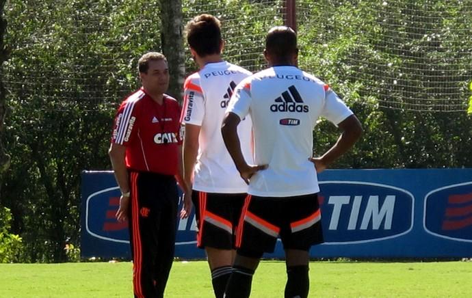 Vanderlei Luxemburgo Flamengo treino (Foto: Thales Soares)