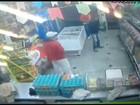 Polícia troca tiros com ladrões em açougue de Guarulhos; veja vídeo