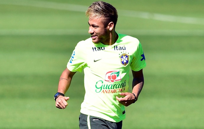 Neymar Brasil treino (Foto: Gaspar Nobrega / Vipcomm)