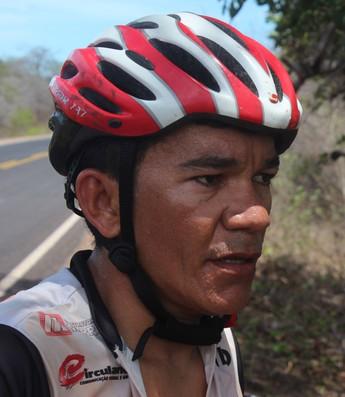 Pudim, ciclista piauiense (Foto: Wenner Tito)