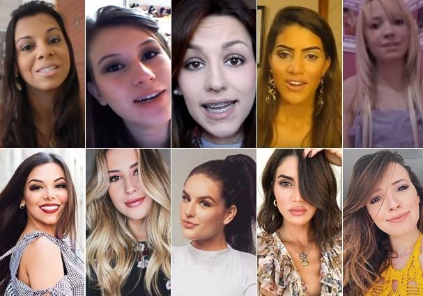Antes e depois das YouTubers (Foto: Reprodução)