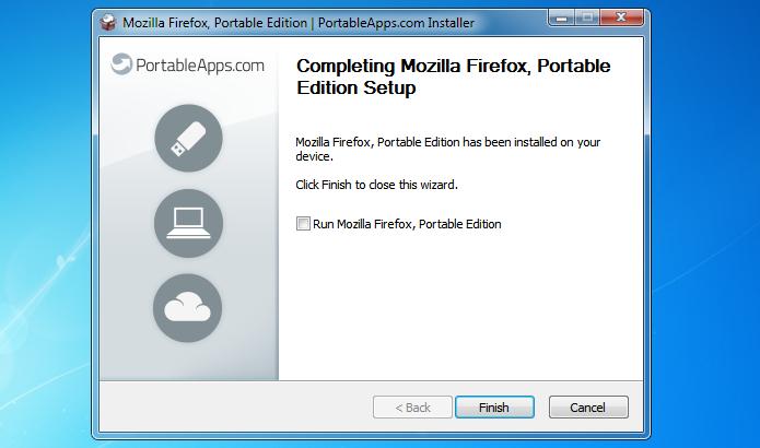 Finalizando instalação do Firefox Portable (Foto: Reprodução/Helito Bijora)