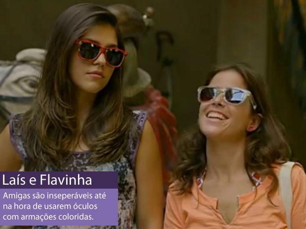 Laís e Flavinha (Foto: Amor Eterno Amor/TV Globo)