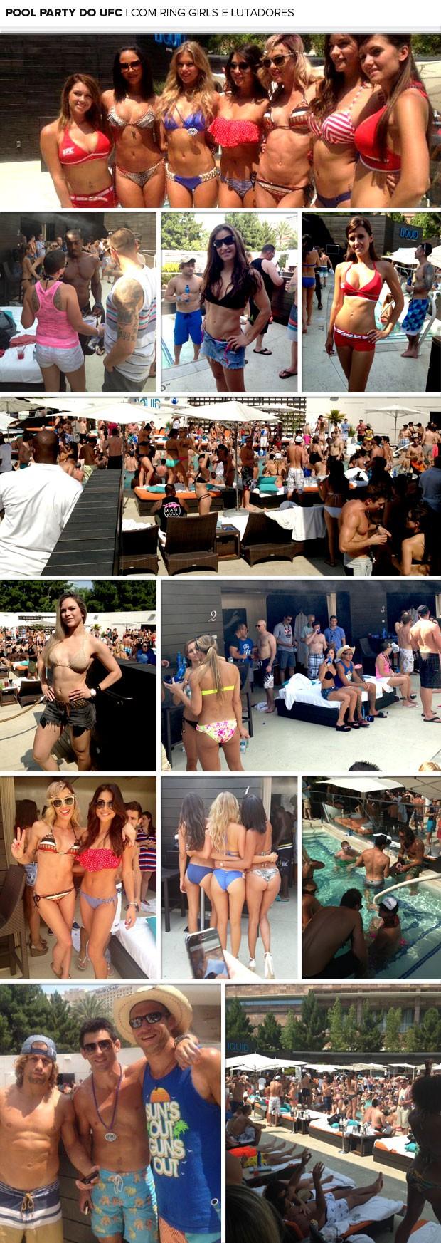 MOsaico - Pool party UFC 162 (Foto: Reprodução / Facebook)