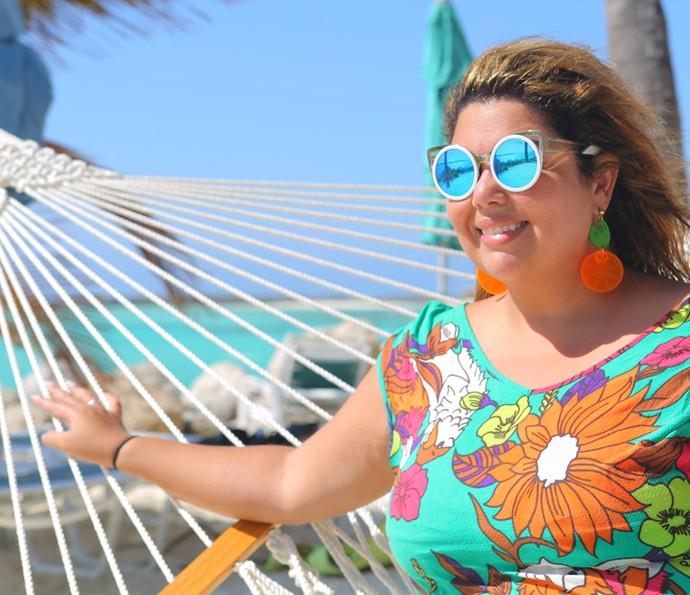 Fabiana Karla descansa na rede (Foto: Thiago Fontolan/Gshow)