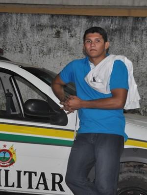 Deroci Barbosa detido (Foto: Lenilda Cavalcante)