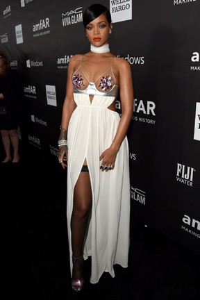 Rihanna em evento em Los Angeles, nos Estados Unidos (Foto: Jason Merritt/ Getty Images/ AFP)