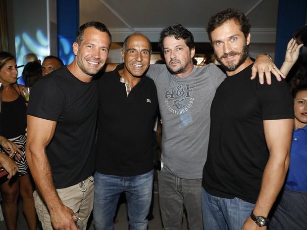 Malvino Salvador, Pedro Matos, Marcelo Serrado e Paulo Rocha em evento na Barra da Tijuca, Zona Oeste do Rio (Foto: Felipe Panfili/ Divulgação)