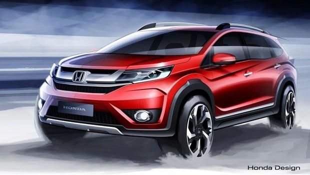 Honda divulga desenhos do BR-V, utilitário de sete lugares