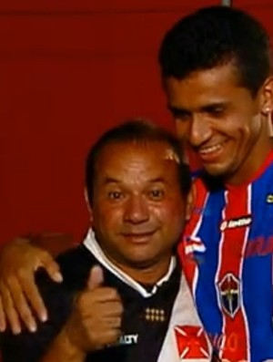 Ocival e Roberto Dinamite (Foto: TV Globo)