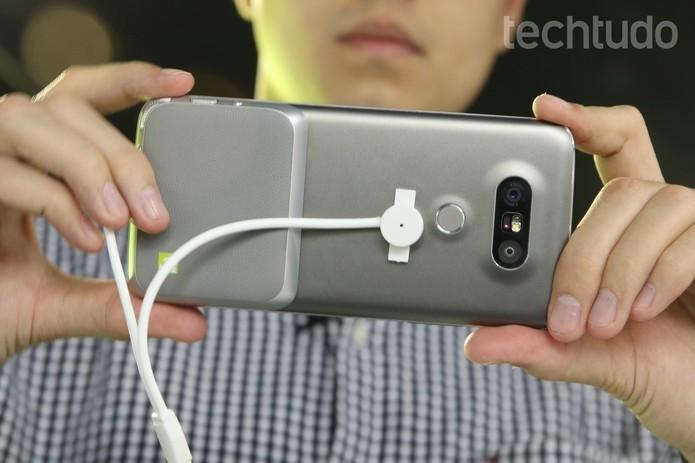A opção por câmeras duplas ja está presente desde o LG G5 (Foto: Reprodução/TechTudo)