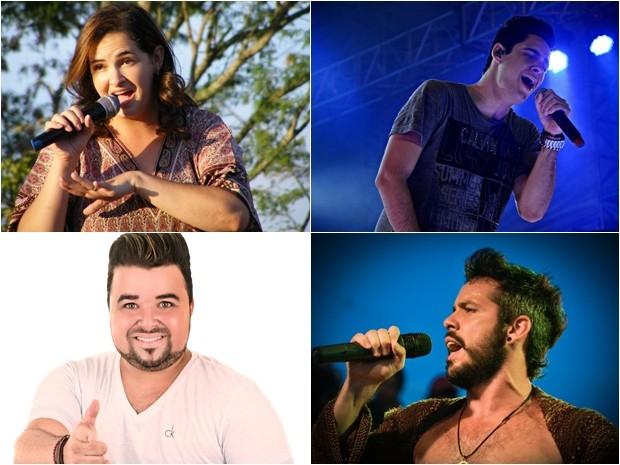 Rosimar Lemos, Lucas Costa, Davi Firma e Almério estão na campanha de natal da TV Asa Branca (Foto: Divulgação)