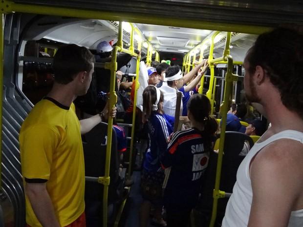 BRT é aprovado em novo teste de acesso à Arena Pernambuco, no primeiro jogo da Copa do Mundo (Foto: Luna Markman / G1)