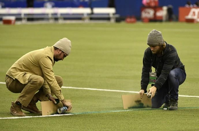 Linha pintada errada Toronto FC x Montreal Impact (Foto: Reuters)