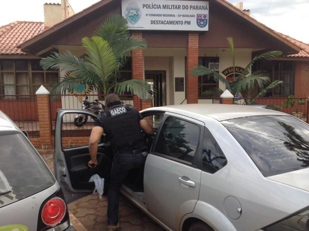 Operação do Gaeco prende 13 pessoas na região oeste do Paraná (Foto: Caio Vasques/ RPC Foz do Iguaçu)