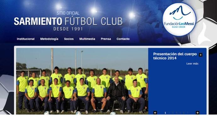 Print do site oficial com a logo da Fundação Leo Messi (Foto: Reprodução)