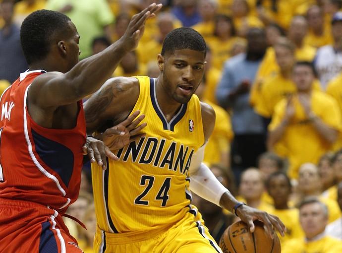Paul George Indiana Pacers Atlanta Hawks NBA (Foto: Getty Images)