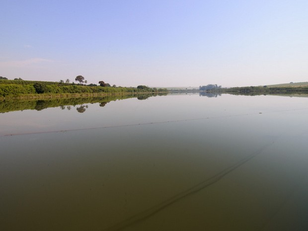 Lago do Ribeirão Pinhal, em Limeira (Foto: Tiago Degaspari)