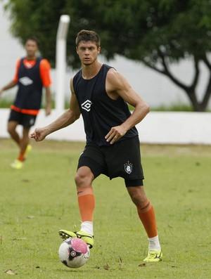 Carlinho Rech sabe da importância do atacante Aleílson (Foto: Marcelo Seabra/O Liberal)