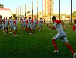 Treino do Velo Clube (Foto: Reprodução / EPTV)