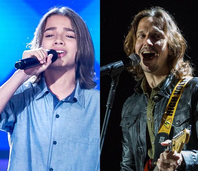 Internautas comentaram semelhança de Luís Arthur com Gui Santiago, de 'Rock Story' (Foto: Isabella Pinheiro / Fábio Rocha - Gshow)
