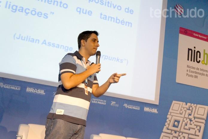 Capanema explica os direitos digitais em palestra na Campus Party (Foto: Melissa Cruz/TechTudo)