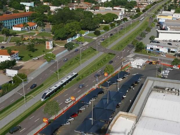 Justiça suspendeu edital do VLT em Cuiabá  (Foto: Divulgação / Secopa)