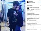 Giovanna Grigio e Johnny Baroli assumem namoro na web: 'Amo você'