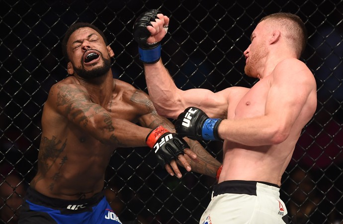 Justin Gaethje venceu Michael Johnson por nocaute técnico 4m48s do R2 (Foto: Getty Images)