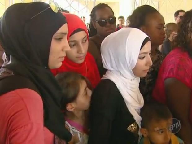 Refugiados vieram ao Brasil por medo da violência (Foto: Reprodução/ EPTV)