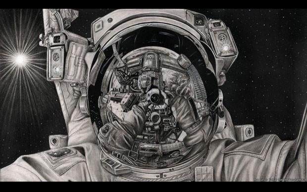 Astronauta (Foto: Raj Singh Tattal/The PenTacular Artist)