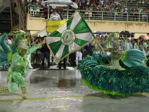 Aparecida homenageou o Centro de Manaus (Foto: Jamile Alves/G1 AM)