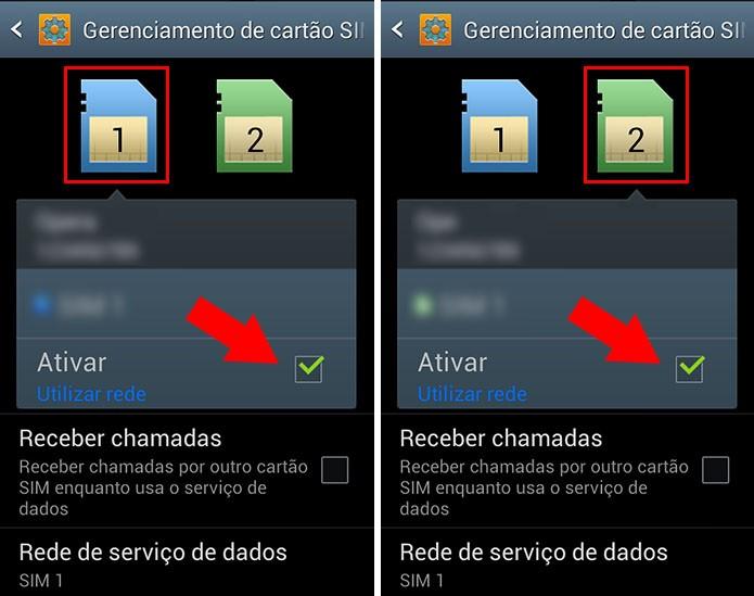 Ative ou desative os dois chips do Galaxy Gran Duos (Foto: Reprodução/Paulo Alves)