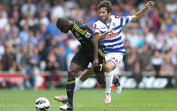 Ramires e Granero, QPR x Chelsea (Foto: Agência Getty Images)