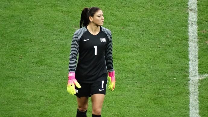 Hope Solo foi vaiada novamente na partida contra a França (Foto: Rafael Araújo)