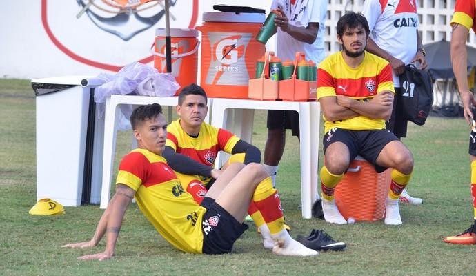 euller; euller vitória;tiago real; tiago real vitória (Foto: Francisco Galvão/EC Vitória)