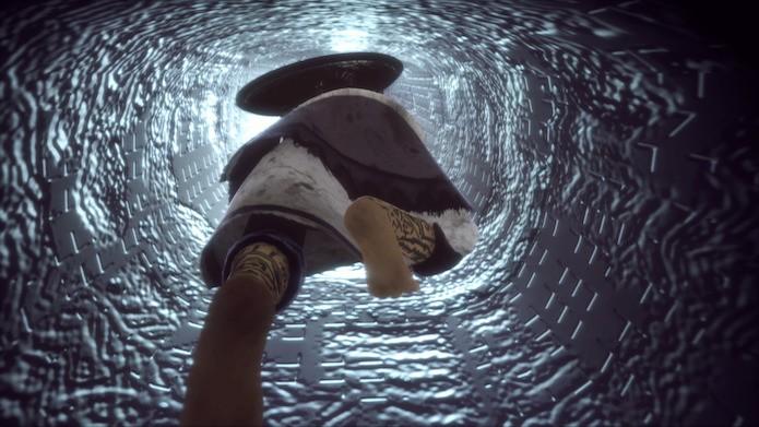 The Last Guardian: passe pelo túnel iluminado (Foto: Reprodução/Victor Teixeira)
