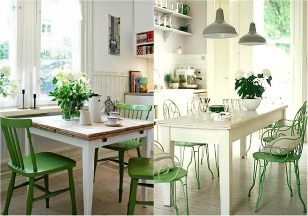 Verde Greenery, tom da Pantone para 2017, invade a decoração (Foto: Reprodução / Pinterest | Reprodução / Book of Secrets / Pinterest)