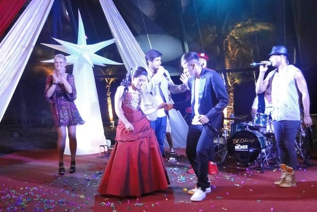 E dançou muito também (Foto: TV Globo/ TV Xuxa)