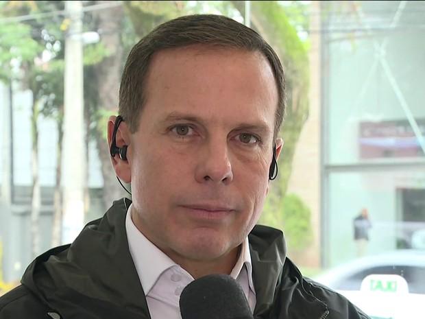 João Dória (Foto: reprodução GloboNews)