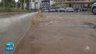 Tubulação estoura na região do Rio Vermelho, em Salvador