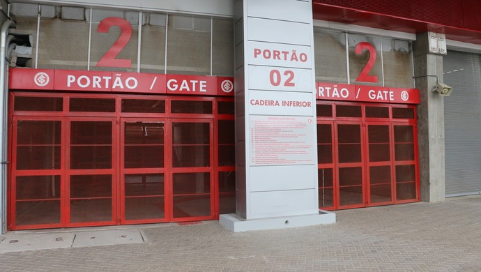 Treino Inter Internacional fechado Beira-Rio (Foto: Tomás Hammes/GloboEsporte.com)