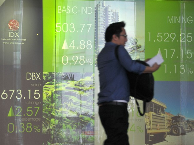 Bolsa da Indonésia, nesta quinta-feira (17) (Foto: AFP)