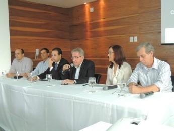 Coletiva da Secopa-PE anuncia novidades nos transportes, no Recife (Foto: Elton de Castro / GloboEsporte.com)
