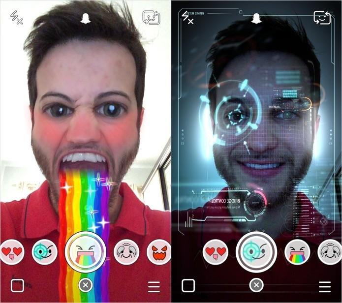 Snapchat voltou a ser destaque com filtros Lens (Foto: Reprodução/Helito Bijora)