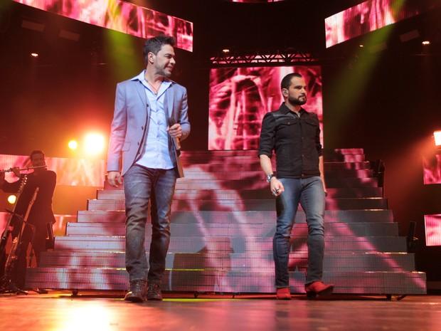 Show de Zezé Di Camargo e Luciano em São Paulo (Foto: Ag. News)
