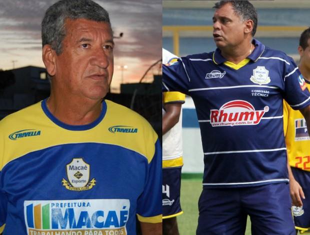 Dário Lourenço e Toninho Andrade, ex-técnicos do Macaé (Foto: Arte)