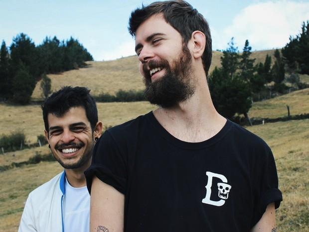 Eduardo e Diego estão viajando há oito meses pela América do Sul (Foto: Arquivo Pessoal)