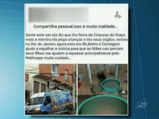 Boato foi espalhado nas redes sociais (Foto: TV Verdes Mares/Reprodução)