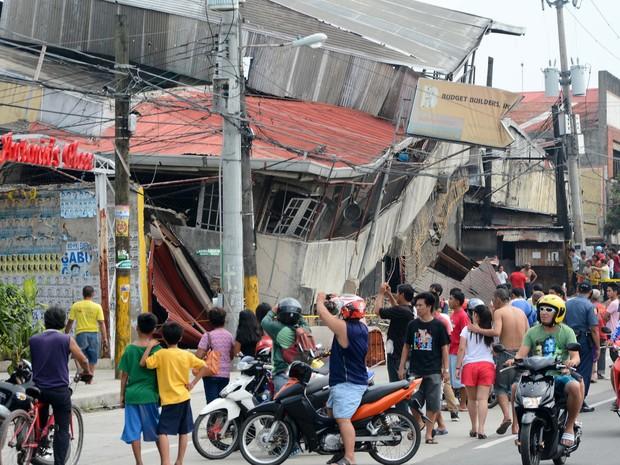 Tremor atingiu cidade de Cebu (Foto: AFP)